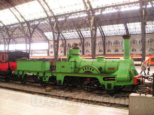 Wefer, web ferroviaria. Tren del Centenario en la Estación de Francia de Barcelona