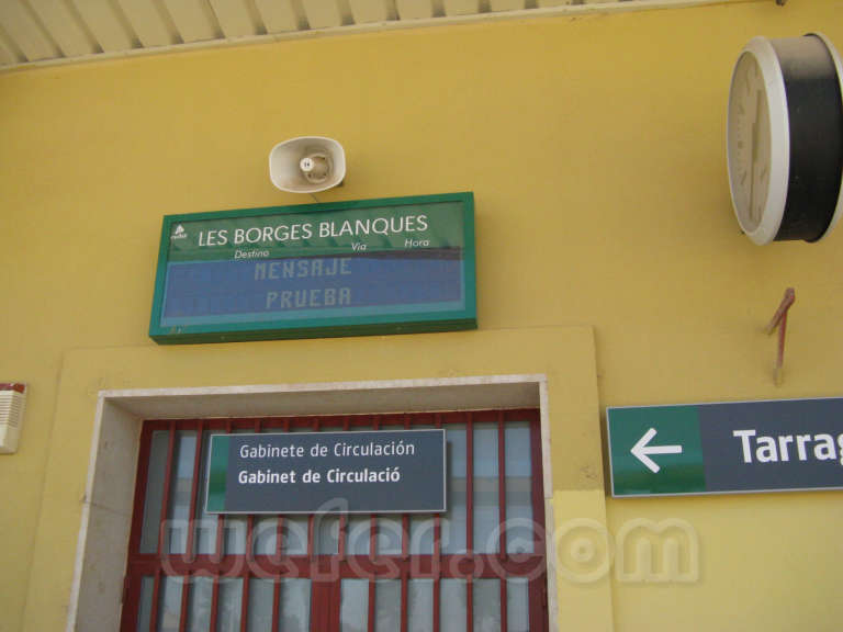 Renfe / ADIF: Les Borges Blanques - 2011