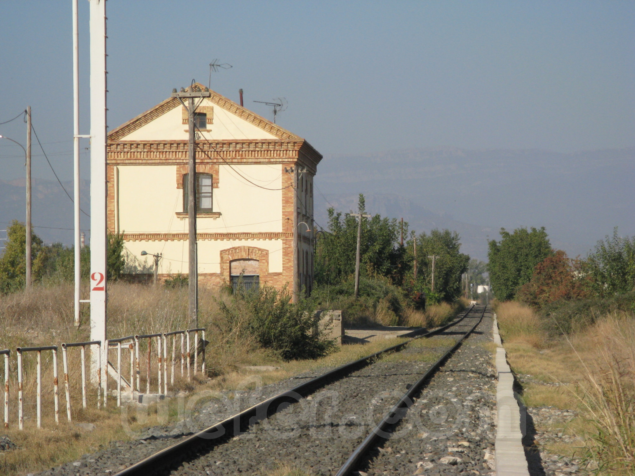 FGC: estación Vallfogona de Balaguer