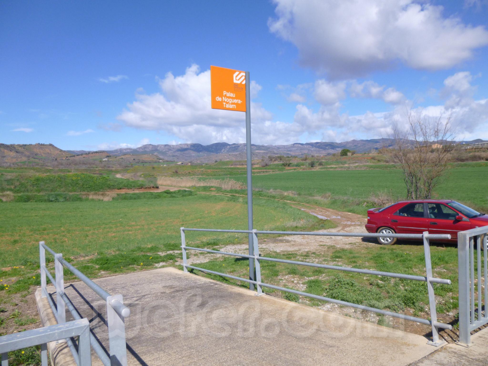 FGC: estación Palau de Noguera - Talarn