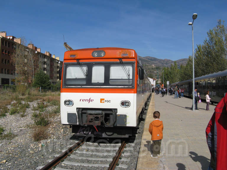 FGC: estación La Pobla de Segur - 2009
