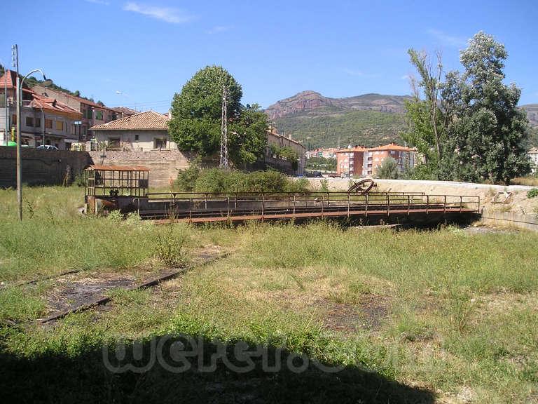 FGC: estación La Pobla de Segur - 2004